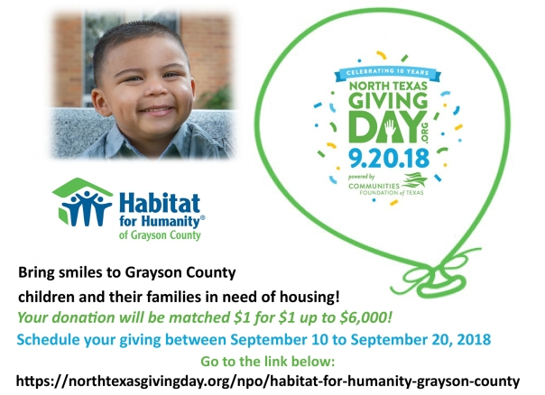 North Texas Giving Day Flyer 8-27-2018